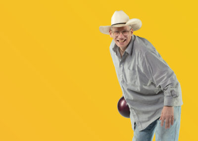 GOLDENROD: Community Member with bowling ball